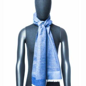 Lichtblauwe sjaal heren
