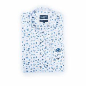 Lichblauw hemd met print State of Art